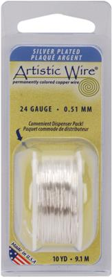 Colored Wire 24 Gauge 10 Yards/Pkg-Natural Non-Tar