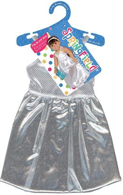 Doll Clothes Prom Dress - Silver