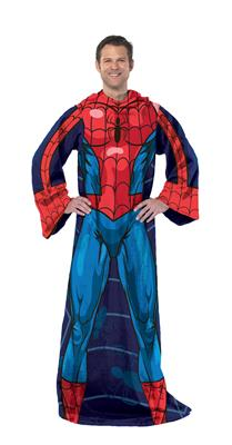 Spiderman-Blue on Blue (Adult) Fleece, Panel Print, Comfy Throw&#8482