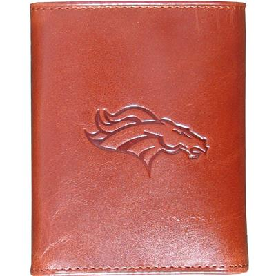 Broncos Embossed Leather Wallet