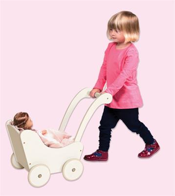 Doll Buggy White