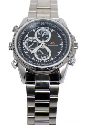 Silver Spy Watch With 8GB Memory