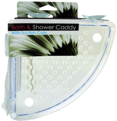 Corner Bath and Shower Caddy with Suction Cups Case Pack 8