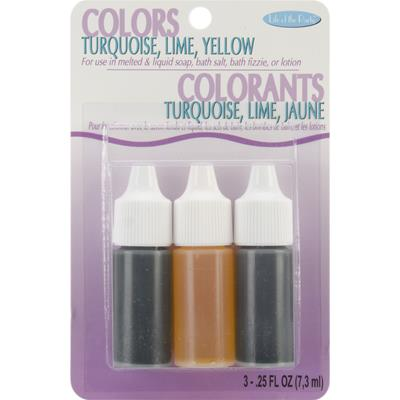 Colors .75oz 3/Pkg-Yellow, Turquoise and Lime