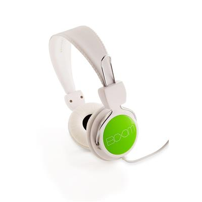 BOOM Renegade On-Ear Headphones (White/Green)
