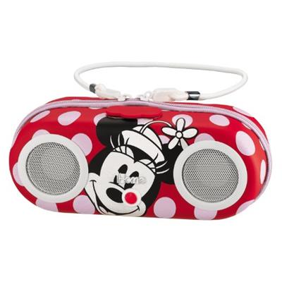 Walt Disney Minnie Mouse Water Resistant Portable Girl's Stereo System