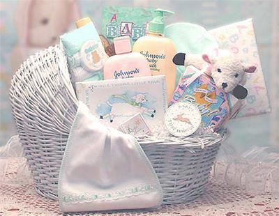 Welcome Baby Bassinet New Baby Basket (Med)