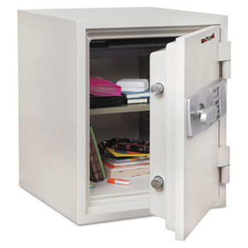 Two Hour Fire and Water Safe, 1.48 ft3, 18-1/5 x 18-1/3 x 21-3/4, White