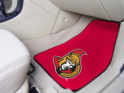"National Hockey League Ottawa Senators 2-pc Printed Carpet Car Mats 18""""x27"""""