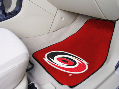 "National Hockey League Carolina Hurricanes 2-pc Printed Carpet Car Mats 18""""x27"""""