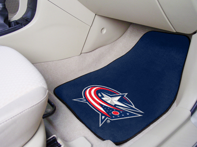 "National Hockey League Columbus Blue Jackets 2-pc Printed Carpet Car Mats 18""""x27"""""