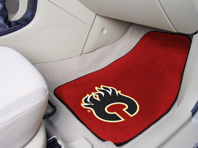 "National Hockey League Calgary Flames 2-pc Printed Carpet Car Mats 18""""x27"""""