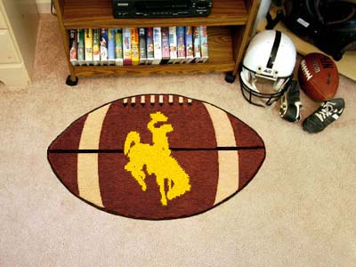 "Wyoming Football Rug 22""""x35"""""