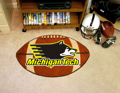 "Michigan Tech Football Rug 22""""x35"""""