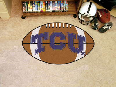 "Texas Christian  Football Rug 22""""x35"""""
