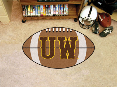 "University of Wyoming Football Rug 22""""x35"""""
