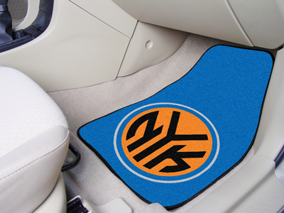 "NBA - New York Knicks 2-piece Carpeted Car Mats 18""""x27"""""