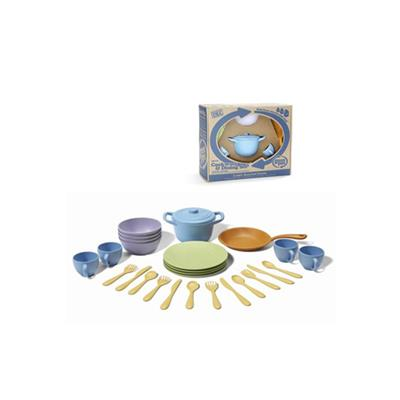 Green Toys Cookware and Dinnerware Set - 27 Piece Set