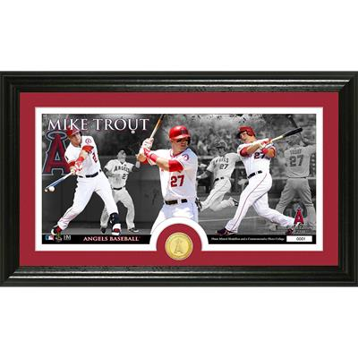Mike Trout Bronze Coin Panoramic Photo Mint