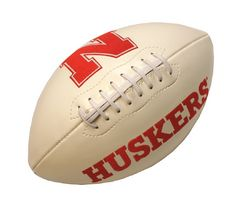 Nebraska Huskers Full Size Embroidered Signature Football - N Logo