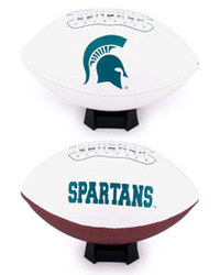 Michigan State Spartans Full Size Embroidered Signature Football