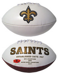 New Orleans Saints Embroidered Signature Series Football