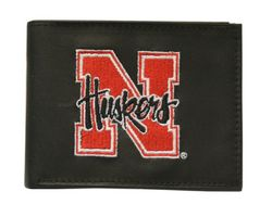 Nebraska Huskers Embroidered Billfold Wallet - Script  Logo