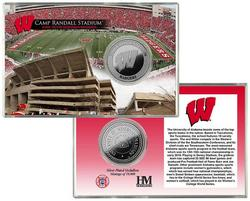 Wisconsin Badgers Silver Coin Card - Stadium