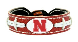 Nebraska Huskers Bracelet - Team Color Football