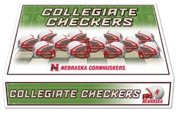 Nebraska Huskers Checker Set