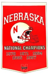 "Nebraska Huskers 24""x36"" Football Dynasty Wool Banner"