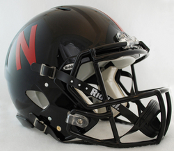Nebraska Huskers Revolution Speed Pro Line Helmet - Black Alternate
