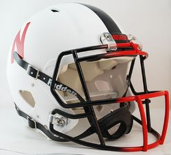 Nebraska Huskers Revolution Speed Pro Line Helmet - Alternate White