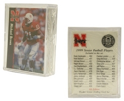 Nebraska Huskers '99 Senior Football Set - 1/26ct