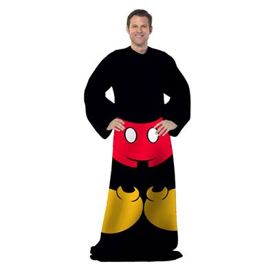 Disney Mickey Mouse Comfy Throw Fleece Blanket Sleeves