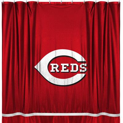 MLB Cincinnati Reds Shower Curtain Baseball Bath Accessory