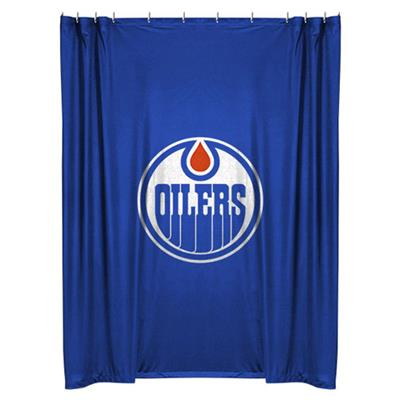 NHL Edmonton Oilers Shower Curtain Hockey Bath Accessory