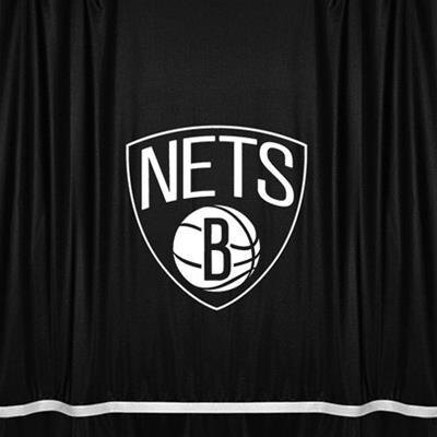NBA Brooklyn Nets Shower Curtain Basketball Bath Accessory