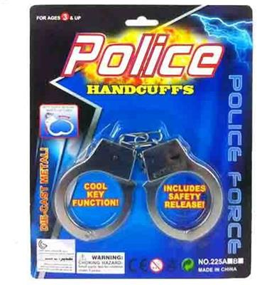 Die-Cast Metal Handcuffs with Safety Release Case Pack 288