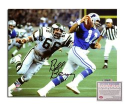 Bill Bergey NFL Philadelphia Eagles Hand Signed 8x10 Photograph Vs Lions