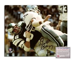Bill Bergey NFL Philadelphia Eagles Hand Signed 8x10 Photograph Vs Cowboys