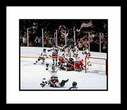1980 USA Olympic Hockey NHL Double Matted 8x10 Photograph Miracle on Ice