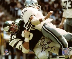 Bill Bergey NFL Philadelphia Eagles Hand Signed 16x20 Photograph Vs Cowboys
