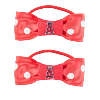 Los Angeles Angels MLB Bow Pigtail Holder