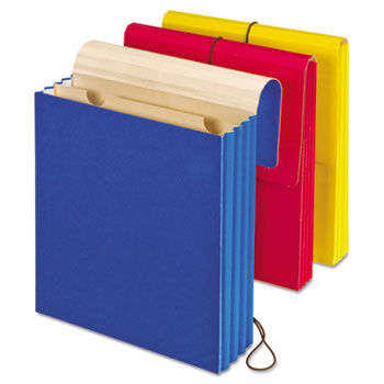 "Vertical Wallet, Letter, 3 1/2"" Expansion, Blue, Red, Yellow, 3/Pack"