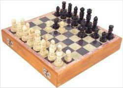 Carved Soapstone 10-in. Chess Set