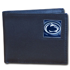 Penn St. Nittany Lions Leather Bi-fold Wallet in Gift Box