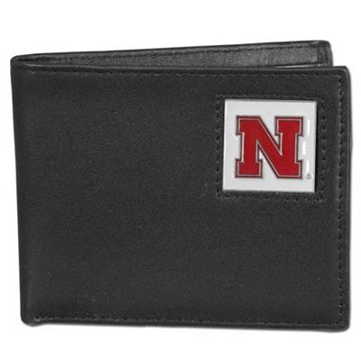 Nebraska Cornhuskers Leather Bi-fold Wallet in Gift Box