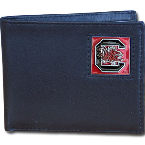 S. Carolina Gamecocks Leather Bi-fold Wallet in Gift Box