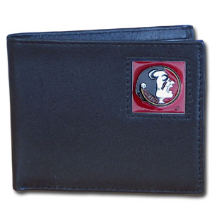 Florida St. Seminoles Leather Bi-fold Wallet in Gift Box